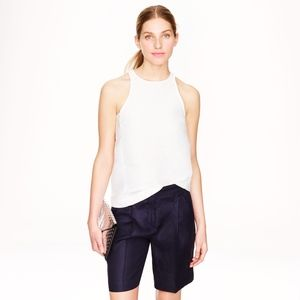 J. Crew Collection Italian Linen Bermuda Shorts